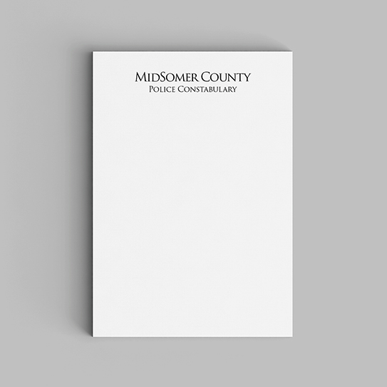 Mystery Watchlist-Notepads-Midsomer County Police Constabulary-01-Flat-543px