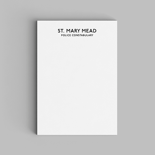 Mystery Watchlist-Notepads-St Mary Mead Police Constabulary-01-Flat-543px